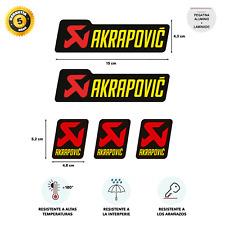 STAR SAM ® Pegatina Laminado AKRAPOVIC Tubo Escape Aluminio Temperatura +180 º