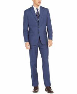 Club Room Mens Suit Set Bright Navy Blue Size 38 Classic Fit  2 Piece $395 #094
