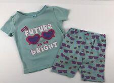 Gymboree Baby Toddler Girl 18-24 M Short Sleeve Shorts Pajamas PJ's Sleepwear
