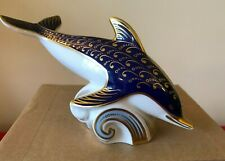 DOLPHIN - Royal Crown Derby Paperweight Introduced in 1987 Retired in 1993
