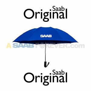 NEW GENUINE SAAB UMBRELLA BLUE SAAB LOGO SAAB ACCESSORY GIFT