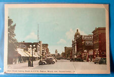1940 POSTCARD MAIN STREET LOOKING SOUTH TO C P R STATION MOOSE JAW SASKATCHEWAN