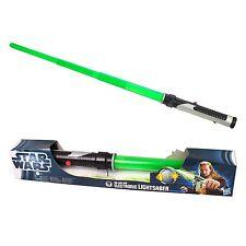 Star Wars Qui Gon Yinn Verde Sable De Luz Electrónico Luces Y Sonidos De Disney/Hasbro