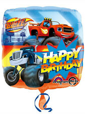 """Blaze & The Monster Machines Party Decoration Happy Birthday 18"""" Foil Balloon"""