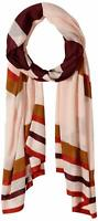 Vince Camuto Women's Knit Wrap Pink Multi One Size Lightweight Stripe $38 634