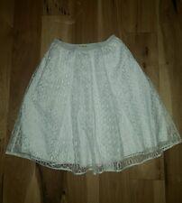 NEW MAEVE ANTHROPOLOGIE White Elastic Waist Lace Knee Length Skirt SM7216 size 0