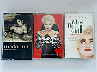 Lot of 3 MADONNA cassette tapes Like A Virgin, Who's That Girl, You Can Dance