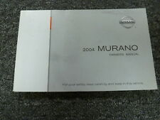2004 Nissan Murano SUV Owner Owner's Manual User Guide Book SL SE AWD 3.5L V6