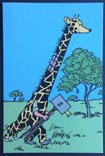 TINTIN au Congo Carte postale promotionnelle Casterman 1993 Excellent état