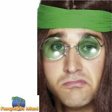 Seventies Hippy Specs Assorted Coloured Lenses Halloween Fancy Dress Accessory