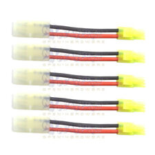 5 PCS Big Tamiya Male Adapter to mini Tamiya Female Connector for Battery