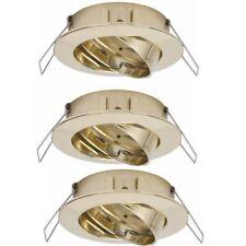Lámpara Empotrable Spot 3er Juego Foco Girable Redondo Oro 997.45 Paulmann
