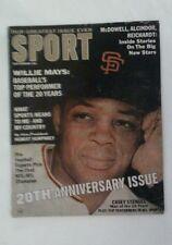 Vintage 1966 Sport Magazine WILLIE MAYS San Francisco Giants Cover RARE MLB