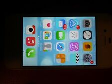 Apple iPhone 4s - 16Gb - White (Unlocked) A1387 Cracked Screen, Fully Works!