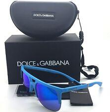 Dolce & Gabbana Blue Sunglasses DG 6098 3015 25 59 mm UNISEX Rubber Matte