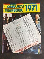 Song Hits 1971 yearbook magazine Jackson 5 Paul McCartney Partridge Family