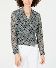 INC Womens Black Geometric Long Sleeve Size XS