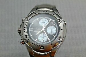 """Accurist """"Mean Time"""" Chronograph Wrist Watch with Original Box - UK Stock"""