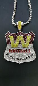 Washington Redskins Football Team Necklace V-Neck Pendant Souvenir - 60 Cm