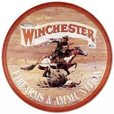Metal Tin Sign round winchester firearms Bar Pub Retro Poster 30cm diameter