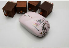 Wireless Mouse Cordless Optical DPI 1600 with Nano Receiver 2.4GHz, Pink