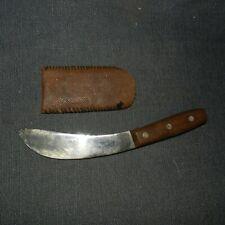 """VINTAGE CRAFTSMAN 10"""" Fixed Blade SKINNING KNIFE Model 9854, Carbon Steel, U.S.A"""