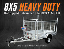8x5 Heavy Duty Trailer | Box Trailer | Hot Dip Galvanized | Fully Welded | Tilt
