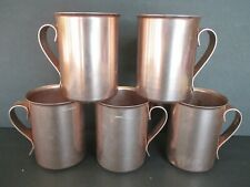 Vintage BASCAL Copper Anodized Aluminum Mug Cup 1950's Moscow Mule Lot of 5