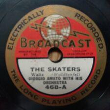 "Giorgio Amato With Orchestra - The Skaters / Estudiantine - Broadcast 468 - 8"""
