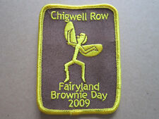 Chigwell Row Fairyland Brownie Day 2009 Girl Guides Cloth Patch Badge (L3K)