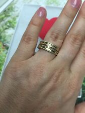 "Anna Beck ring ""Gili"" 18K Gold Plated Silver 925 Size- 7.5 Good Gift NEW$200"
