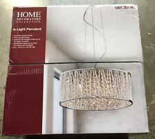 New Home Decorators 6-Light Polished Chrome and Crystal Drum Shape Pendant