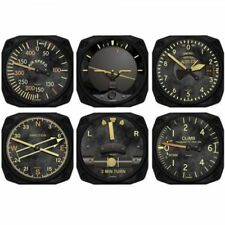Trintec 6-Piece Vintage Aircraft Instrument Inspired Coaster Set  TRI-9045