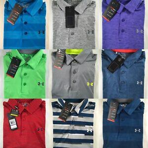 Mens Under Armour Polo Playoff Golf Shirt Short Sleeve Top Collared L XL 2XL 3XL