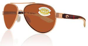 Costa Del Mar Loreto Rose Gold Tortoise Frame Copper 580P Plastic Lens
