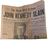 JFK Slain And Oswald Case/Death Set Of 3 Original Newspapers 1963