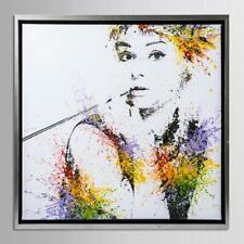 Audrey Hepburn Oil Painting Canvas Art Print Stretched Frame Wall Decor 66*66cm