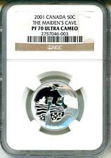 2001 Canada 50c The Maiden's Cave NGC PF70 Ultra Cameo