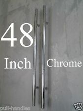 "Entry Door Pull Handles 48"" Long Polished Chrome Front Entrance Modern Ladder"