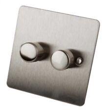 Schneider Get Ultimate 2 Gang Flat Plate Dimmer Gu6222ss 250w