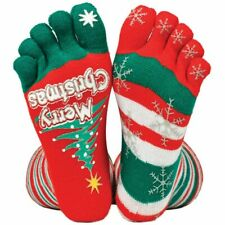 Merry Christmas Stripey Toe Socks - Funny Novelty Socks Gift Secret Santa Xmas