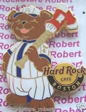 2014 HARD ROCK CAFE BOSTON RED SOX BASEBALL BEAR LE PIN