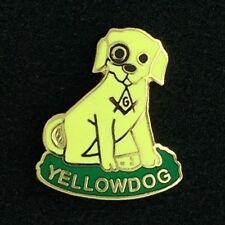 Masonic Yellow Dog Degree Lapel Pin