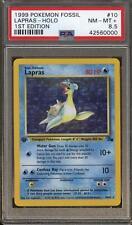 Pokemon Fossil 1st Edition Lapras 10/62 PSA 8.5