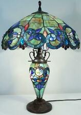 "Tiffany Stained Glass TABLE LAMP w/Lit Base ""Callista"""