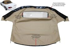 Mazda Miata Convertible Top With Heated Glass Window & attached Rain Rail TAN