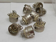 (1) 9 Pin NOS Ceramic Mil Spec USA Tube Socket Vacuum/Electron Valve Nine Pin