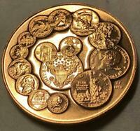 1992 US Mint Bicentennial 1792-1992 Commemorative Bronze Medallion ~ Rare