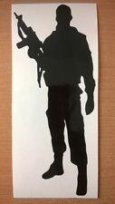 Fuerzas Armadas grande de tropas británicas hombre del Ejército Soldado pistola Vinilo Pared Arte Pegatina