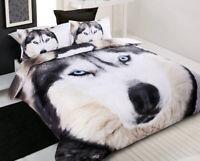 Quilt Duvet | Doona Quilt Cover Set | Animal | Dog | Blue Eyes | Husky Wolf